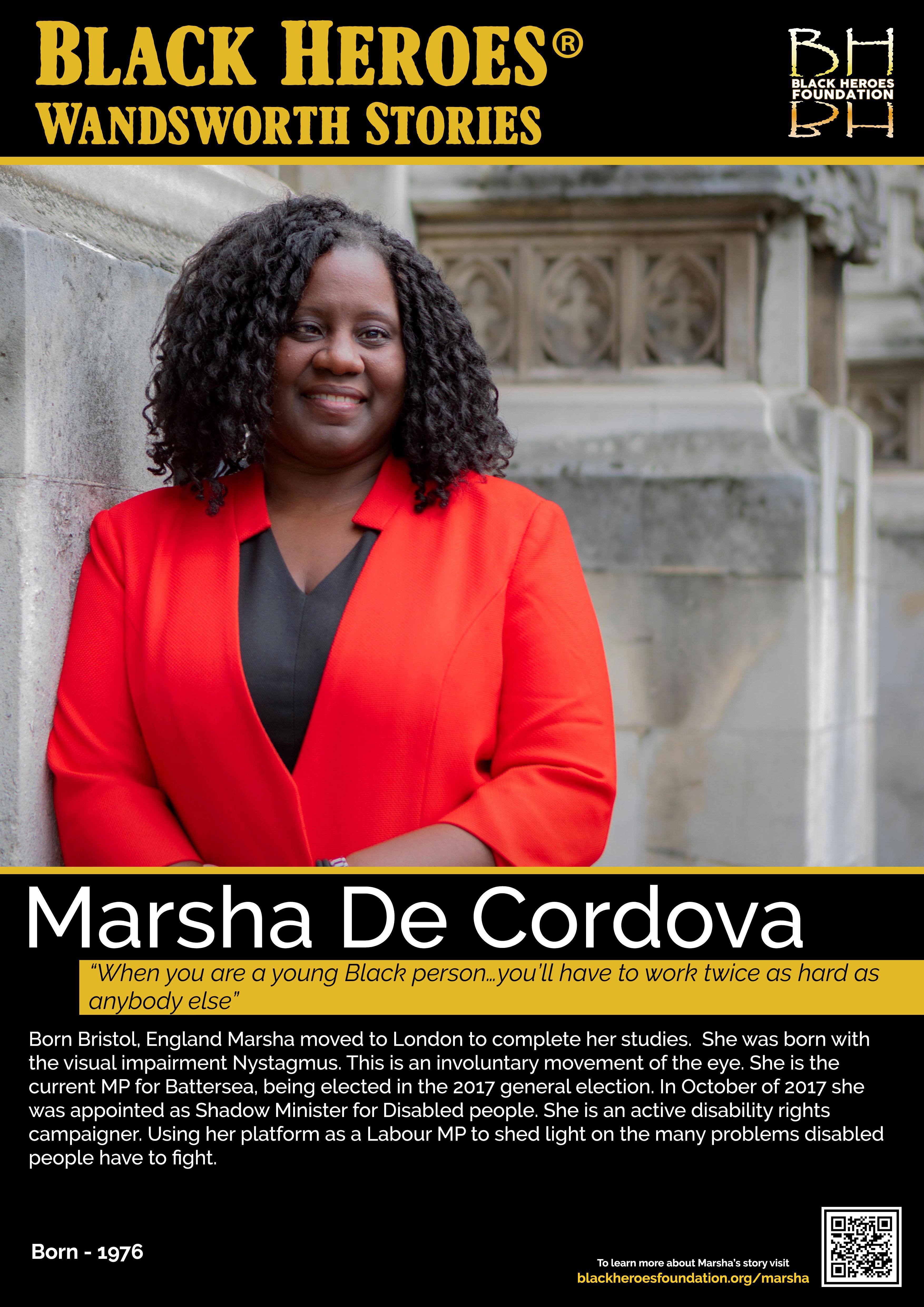 Marsha De Cordova Black Heroes Wandsworth Stories