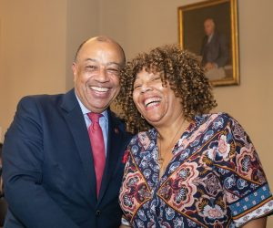 Joyce Fraser-and Chancellor Paul Boateng