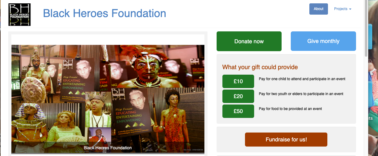 Donate to the Black Heroes Foundation
