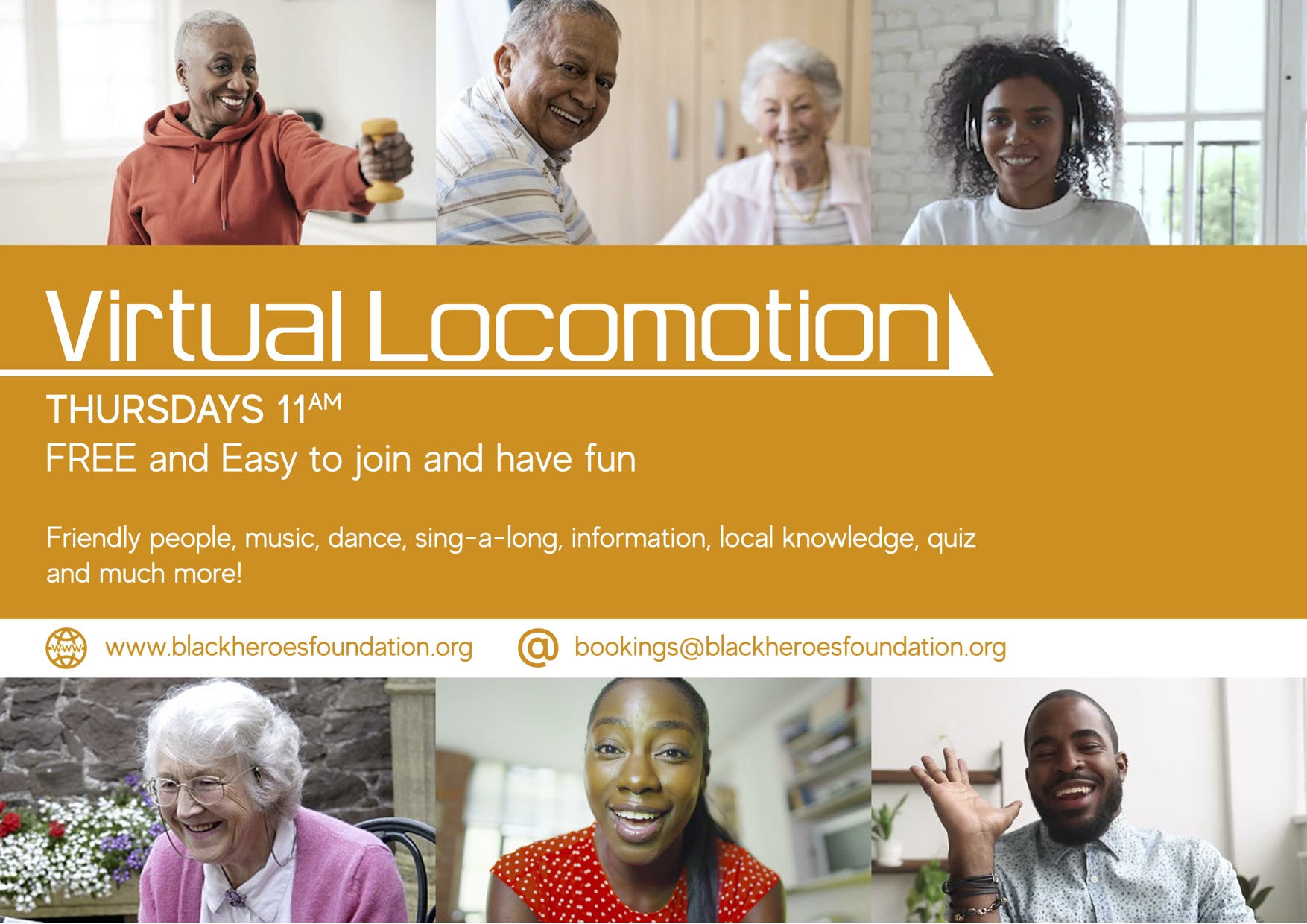 The Virtual Locomotion Weekly Event