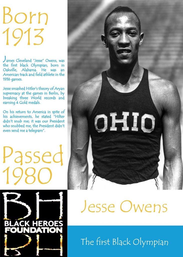 Jesse Owens First Black Olympian